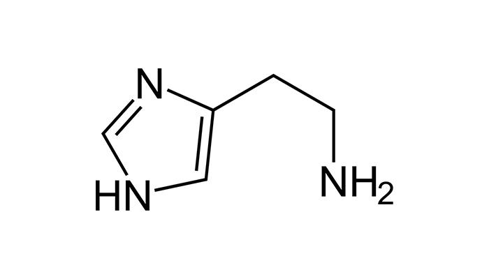 Die Struktur von Histamin
