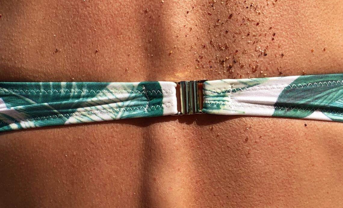 Trockene Haut am Rücken